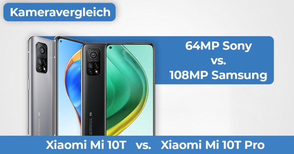 Xiaomi Mi10T Mi10T Pro Kameravergleich Banner