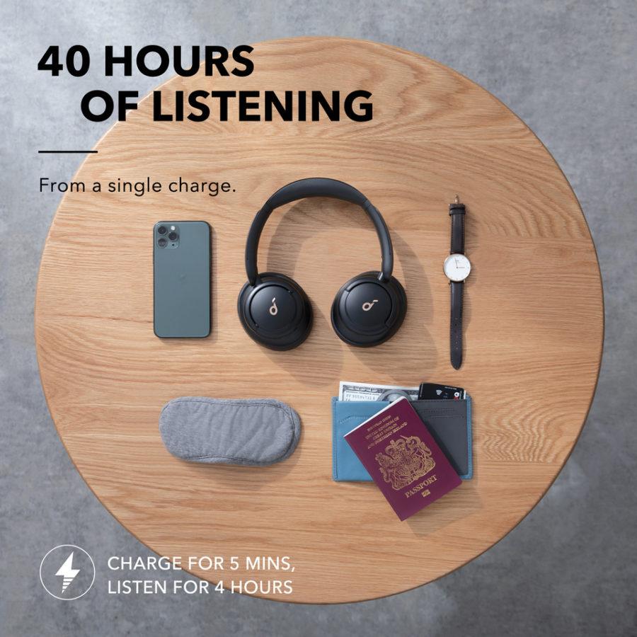Anker Soundcore Life Q30 Test 1 akku 2