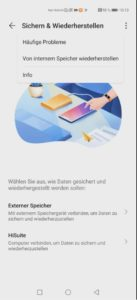huawei playstore backup interner speicher