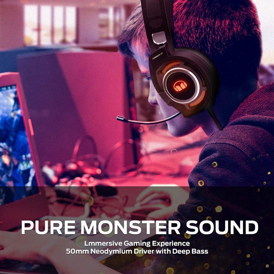 Monster Mission V1 Headset Test wear