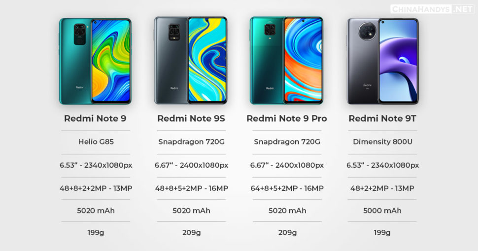 Redmi Vergleich Note 9er Reihe