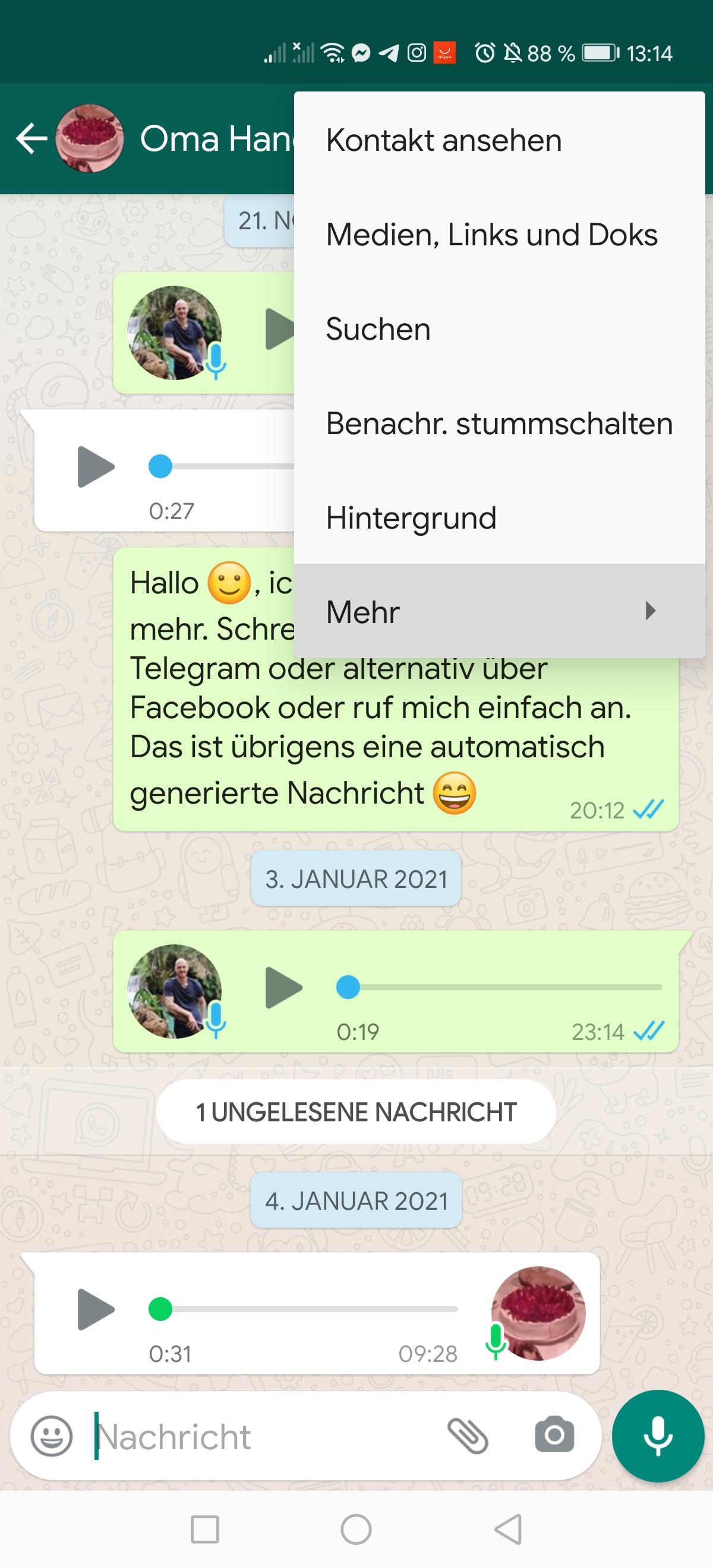 WhatsApp Chats zu Telegram übertragen - Anleitung