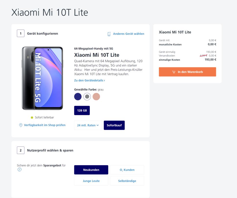 Xiaomi Mi 10T Lite ANgebot