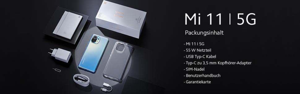 Lieferumfang Xiaomi Mi 11