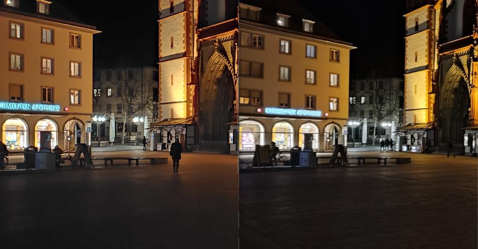 Lossless Redmi Note 10 vs. Note 10 Pro Nacht 1 Zoom