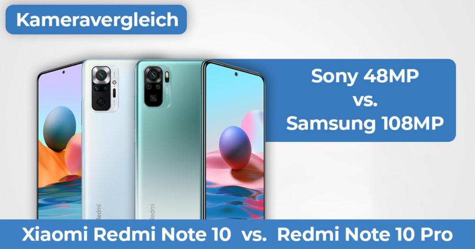 Redmi Note 10 Pro vs Redmi Note 10 Kameravergleich Banner