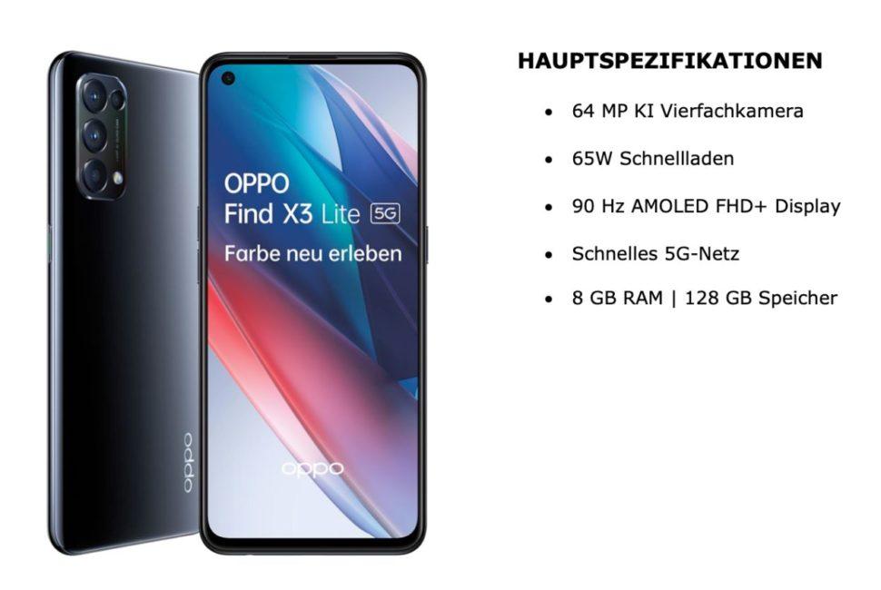 Oppo Find X3 Lite specs