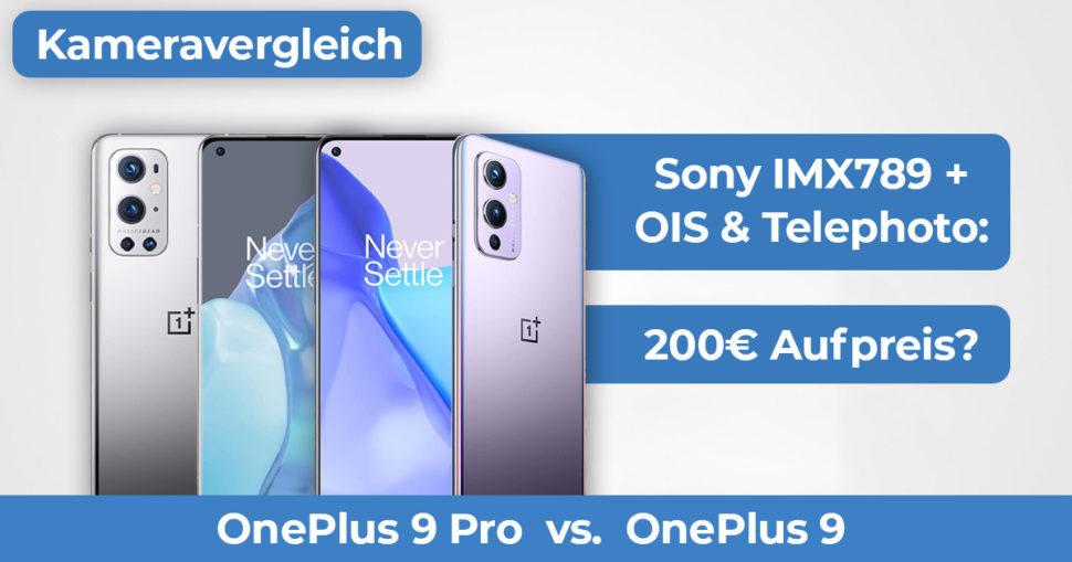 OnePlus 9 OnePlus 9 Pro Kameravergleich Banner