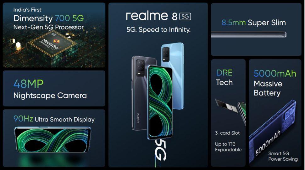 realme 8 5G Specs