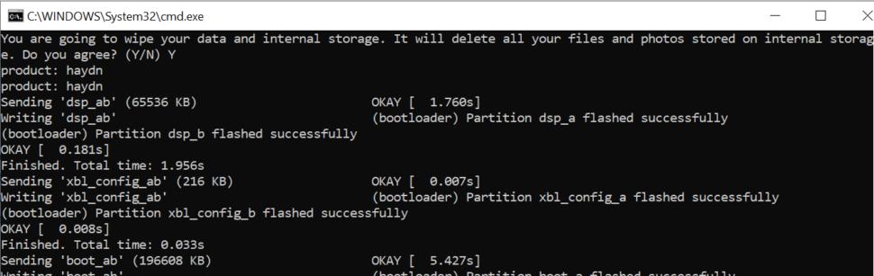 Fastboot Installation