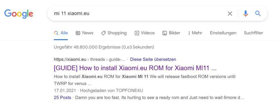 Xiaomi EU Fastboot ROM finden 2