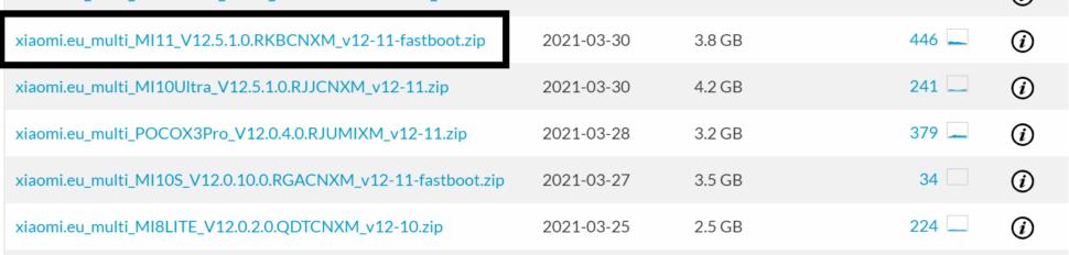 Xiaomi.EU Fastboot ROM finden 1
