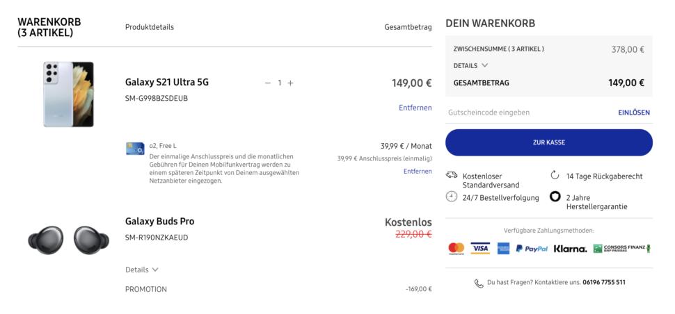 Samsung Shop Angebot