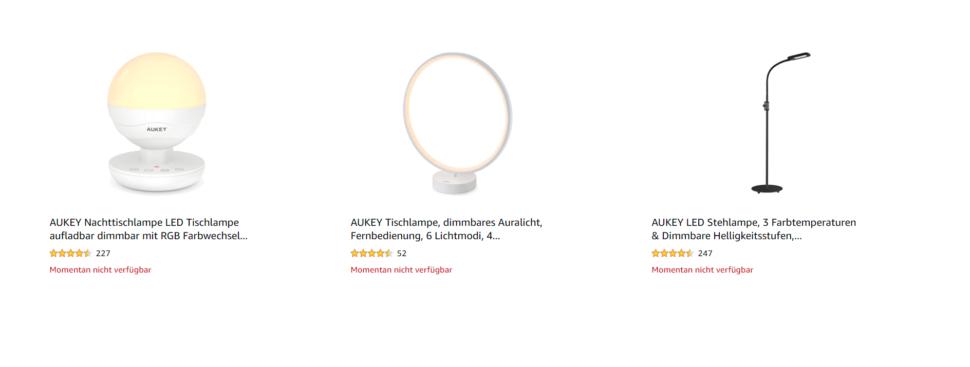 Aukey auf Amazon I