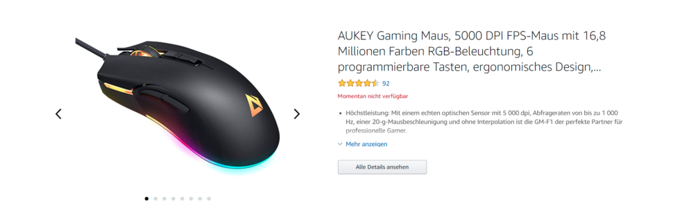 Aukey auf Amazon II