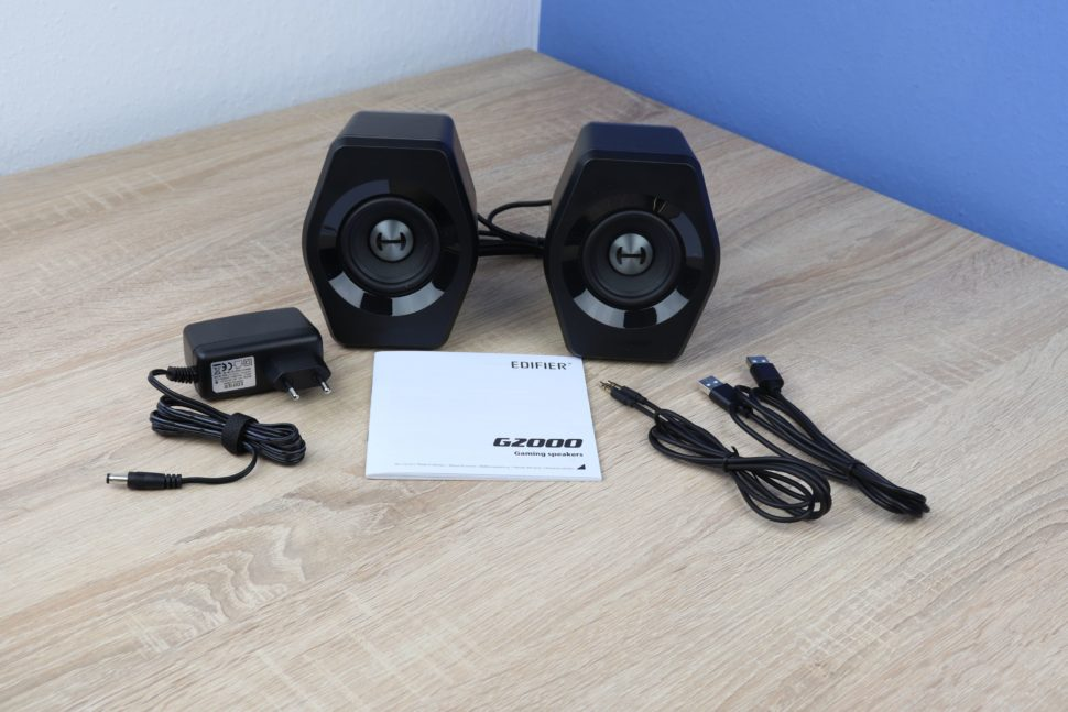 Edifier G2000 PC Lautsprecher Test Lieferumfang