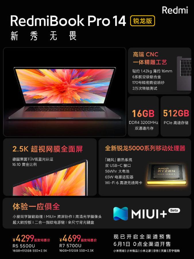 RedmiBook Pro 14 Ryzen Edition