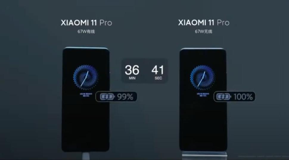 xiaomi 67 w cable vs wireless