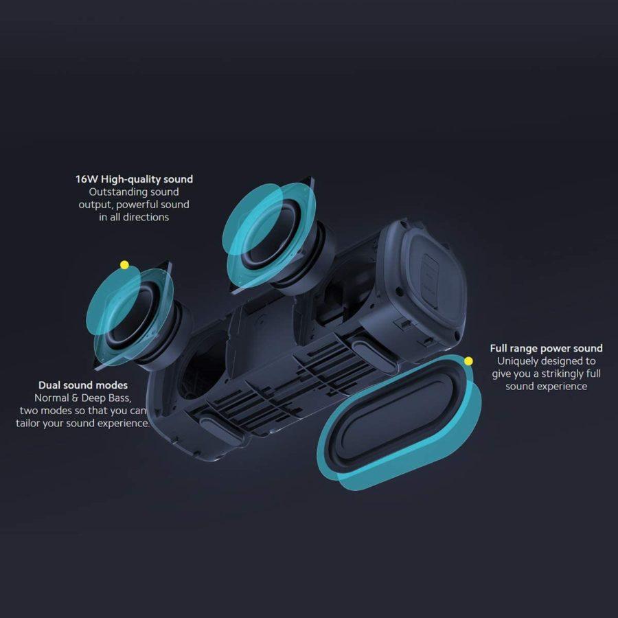 Xiaomi Mi Portable Bluetooth Speaker 16W Test driver