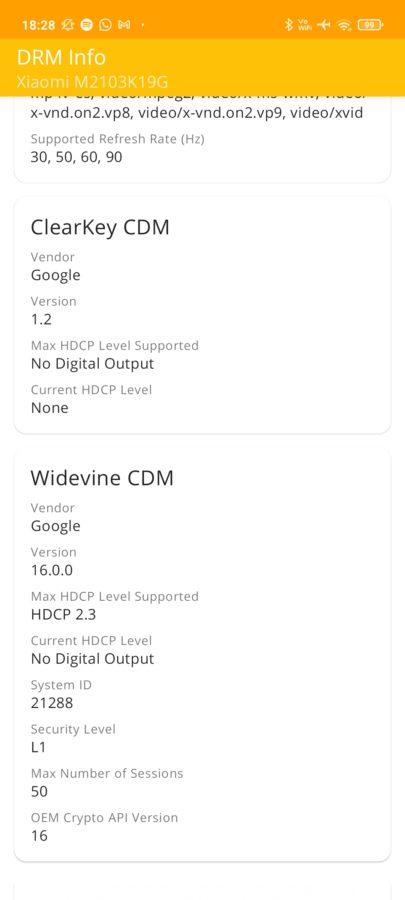 Xiaomi Redmi NOte 10 5G DRMInfo