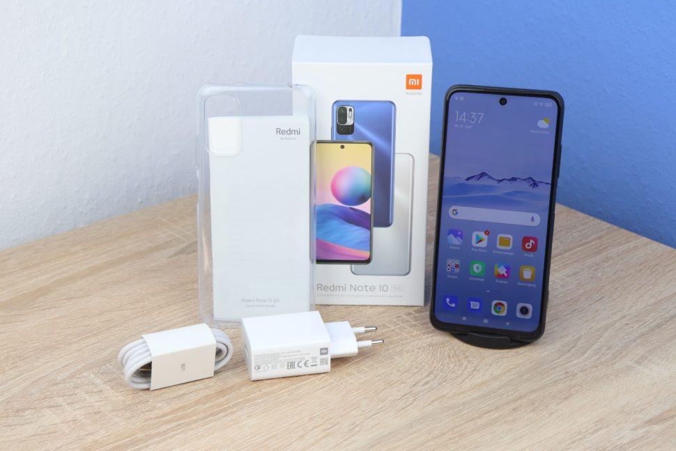 Xiaomi Redmi Note 10 5G Test Lieferumfang
