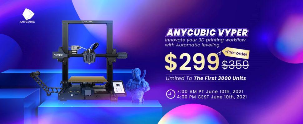 Anycubic Vyper Verkaufsstart