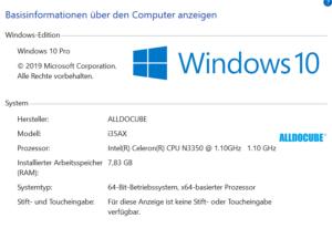 alldocube vbook WindowsInfo