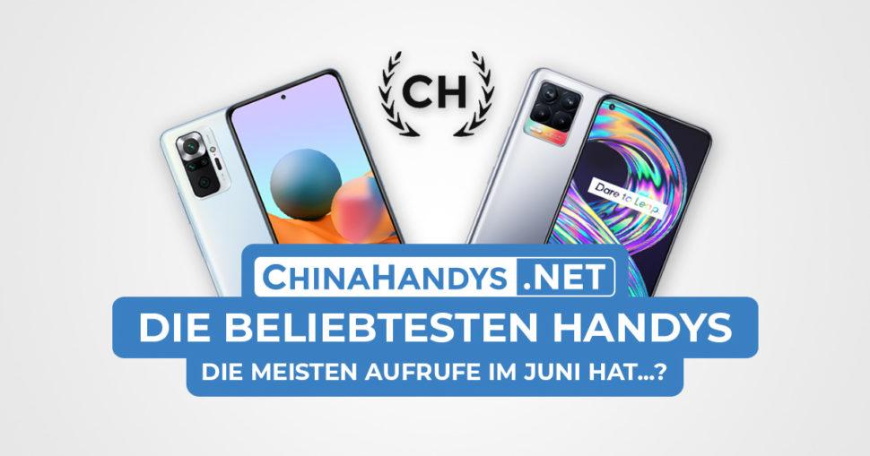 Beliebtesten Smartphones Banner Juni 2021