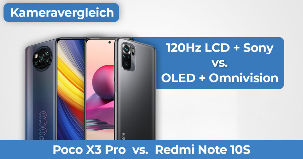 Poco X3 Pro Redmi Note 10S Kameravergleich Banner
