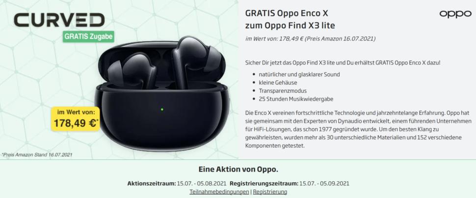 Oppo Enco X gratis dazu