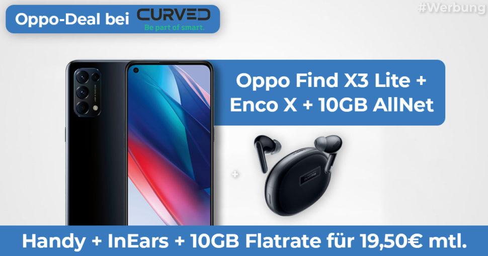 Oppo Find X3 Lite Angebot curved Featured Banner