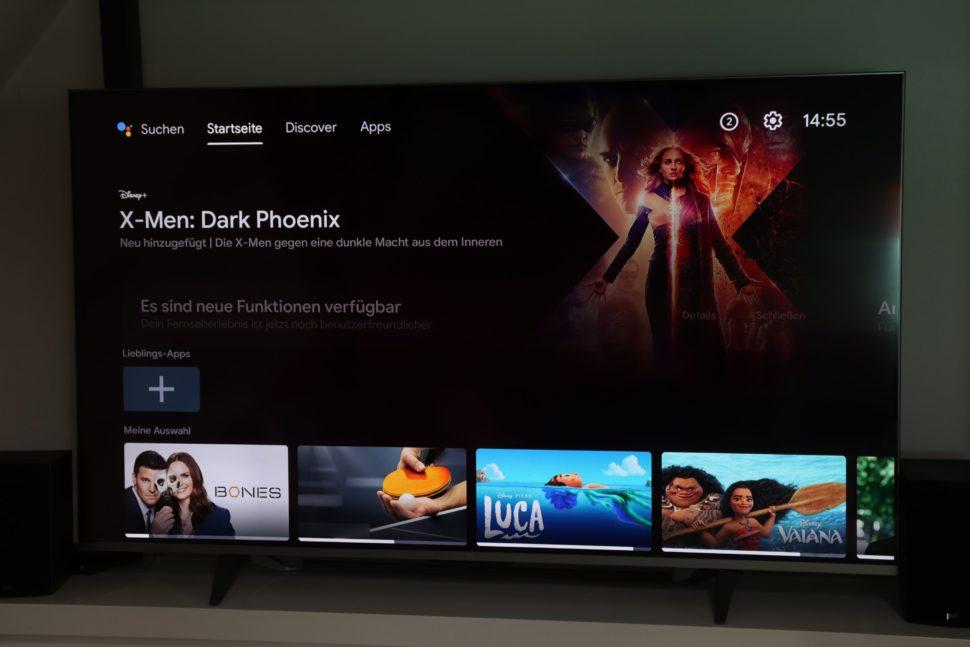 Android TV auf dem Xiaomi Mi TV Q1