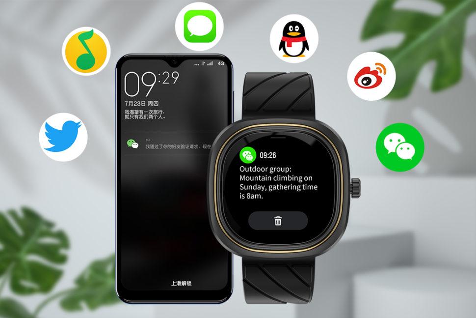 DOOGEE DG Ares Mode Punk Design Uhr Uhren Smartwatch 3