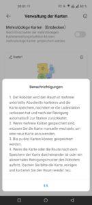 Dreame D9 Max Test Screenshot Mehrstock Karten