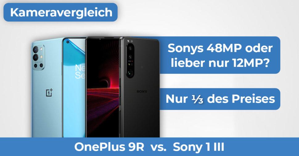 OnePlus 9R vs Sony 1 III Kameravergleich Banner