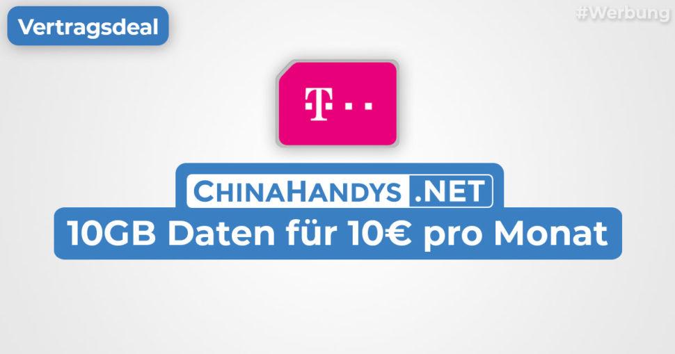 Telekom 10GB Septmember 2021 Vertrag Deal Banner