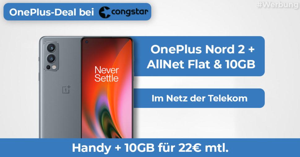 OnePlus Nord 2 10GB Angebot Congstar Featured Banner