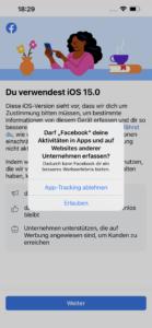 Favebook iPhone Werbung