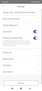 360 s5 app einstellungen