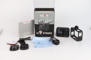 Lieferumfang SJCAM SJ9 Strike Test 1
