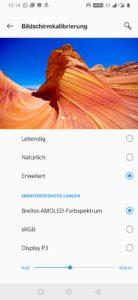 OnePlus 7 display settings