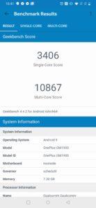OnePlus 7 geekbench