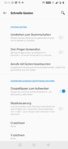 OnePlus 7 gestensteuerung