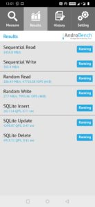 OnePlus 7 sdbench