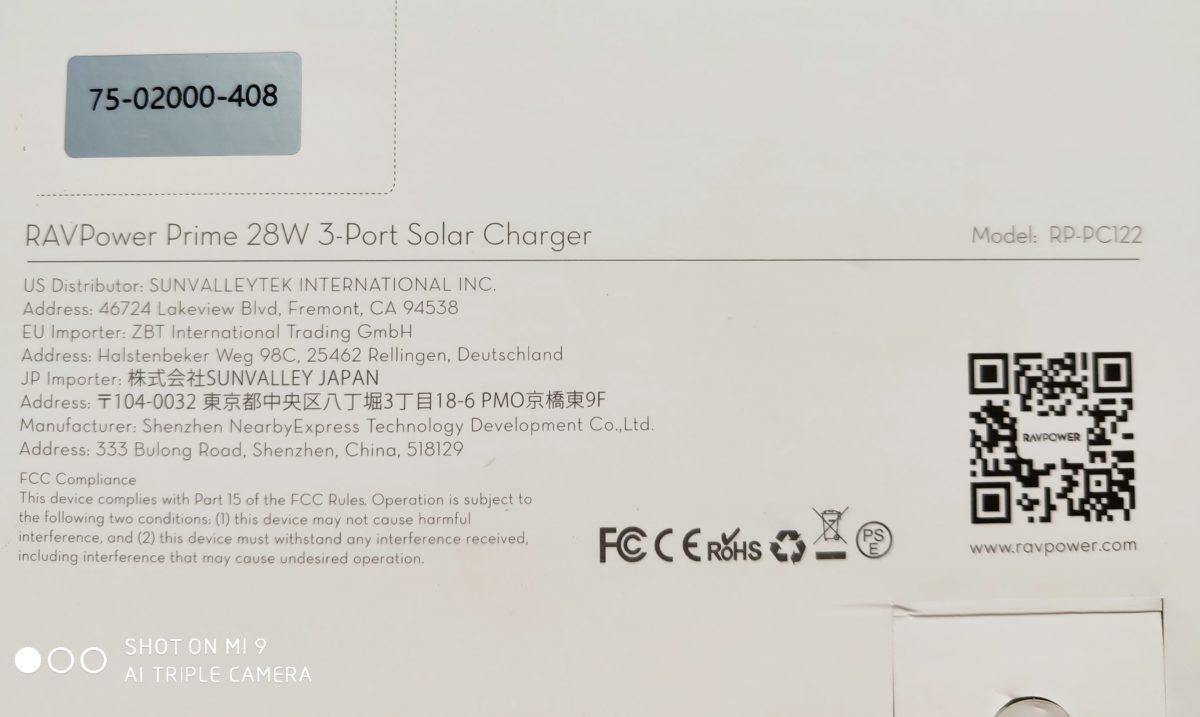 RavPower 28W Solar Charger 1 e1566209758969