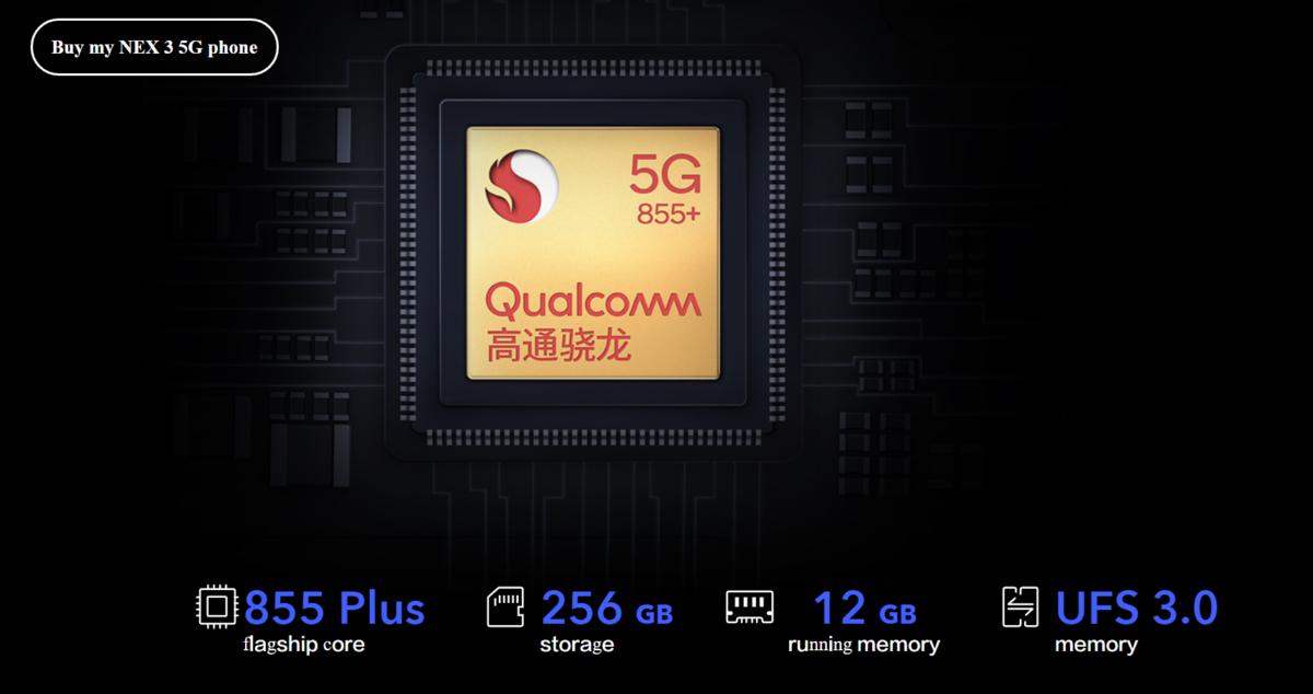 Vivo nex 3 SD855 Plus UFS 3