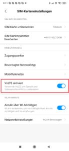 VoLTE aktivieren Xiaomi Smartphone 1