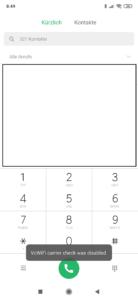 VoWIFI Xiaomi MIUI 10 freischalten 2