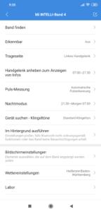 Xiaomi Mi Band 4 Einstellungen 1