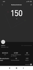 Xiaomi Mi Band 4 Schwimmen 1